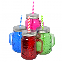 Glass Mason Jars - Ice Cold (Assorted Pack Of 16)