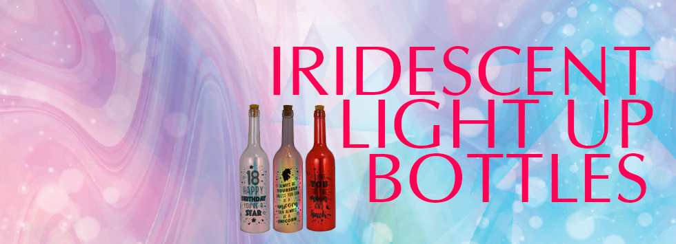 Iridescent Light Up Bottles