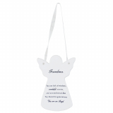 Guardian Angel Grandma Ceramic Plaque