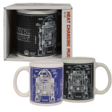 STAR WARS EP8 110Z R2D2 HEAT CHANGING MUGS BOXED