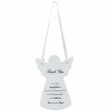 Guardian Angel Thank You Ceramic Plaque