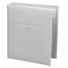 Wedding Planner White & Silver